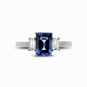 Tanzanite & Diamond Three Stone Ring - 1.00ct